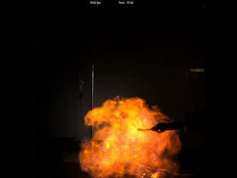 Download Youtube: Methane Air Explosion (flash fire) 5000 fps High Speed - 10fps playback rate
