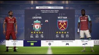 FIFA 18 PREMIER LEAGUE | LIVERPOOL vs WEST HAM [12-08-2018] | PC [1080p60fps]
