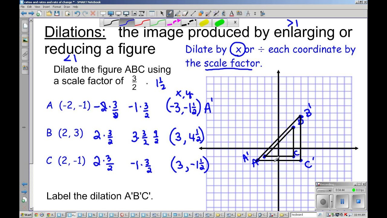 8th Grade Dilations and scale factor YouTube – Geometry Dilations Worksheet