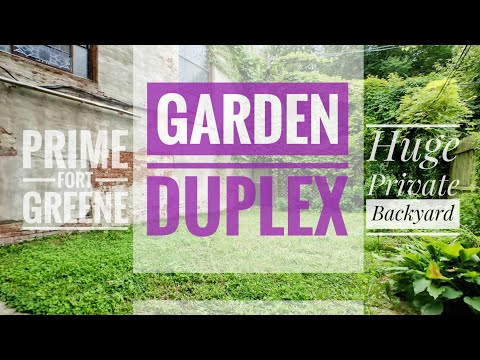 Garden Duplex Apartment in Prime Fort Greene Brooklyn with Private Backyard 👉 Video Tour NYC 👈