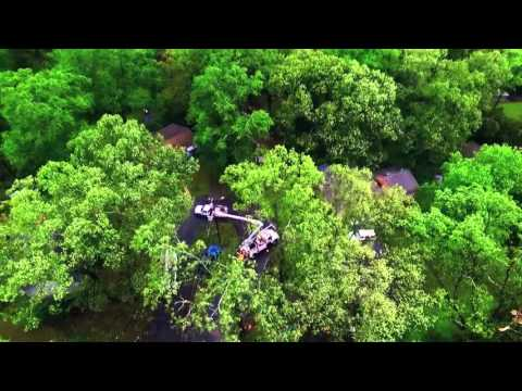 Warner Robins, GA EF-1 Tornado Aerial Footage 4-1-16 (DJI Phantom 3 Professional)