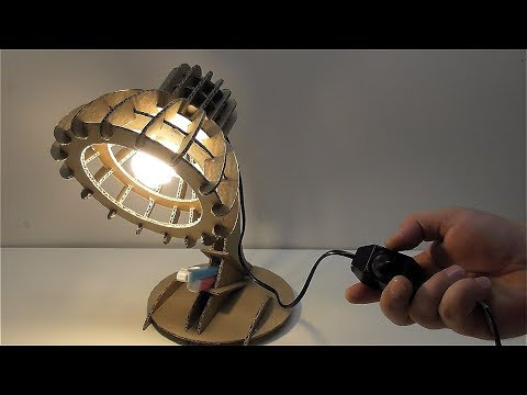 How to make a table lamp out of cardboard at home