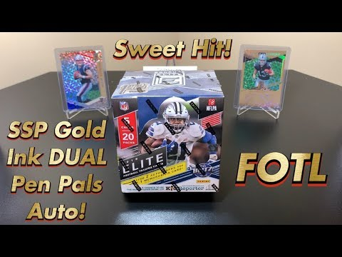 2019 Panini Donruss Elite Football FOTL Hobby Box Break #2 - Sweet Gold Ink Dual Pen Pals Auto!