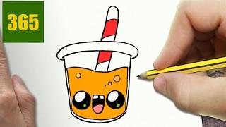 easy draw drawing juice kawaii step drawings orange lessons naranja dibujar zumo como paso faciles dibujos things getdrawings clipartmag 365bocetos
