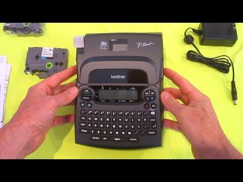 $25 Label Maker REVIEW Brother PT-1890sc comes with power adapter and two  TZe tape dymo epson