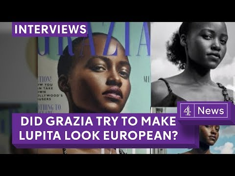 Black women's hair debate - Grazia Lupita Nyong'o cover row