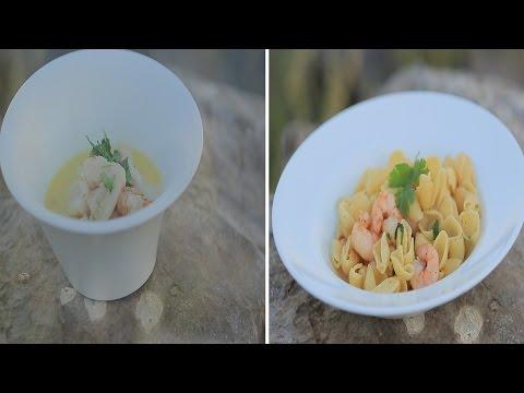 شوربة سمك وجمبري بالجبنة الكريمي - مكرونة بالجمبري : شبكة و صنارة حلقة كاملة