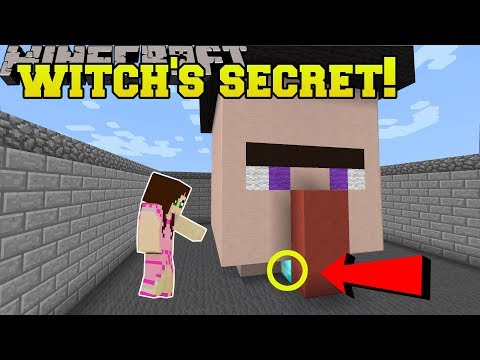 Minecraft: THIS WITCH HAS A SECRET!!! - Halloween Find The Button - Custom Map