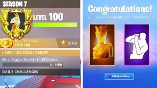 New LEVEL 100 GIFTS in SEASON 7! SECRET REWARDS UNLOCKED in Fortnite!
