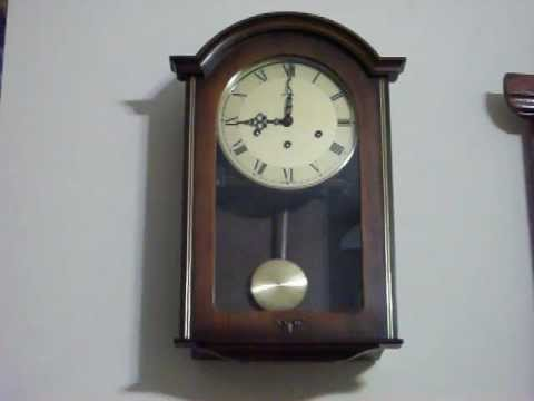 Antique Linden Westminster Chime Wall Clock With Mauthe