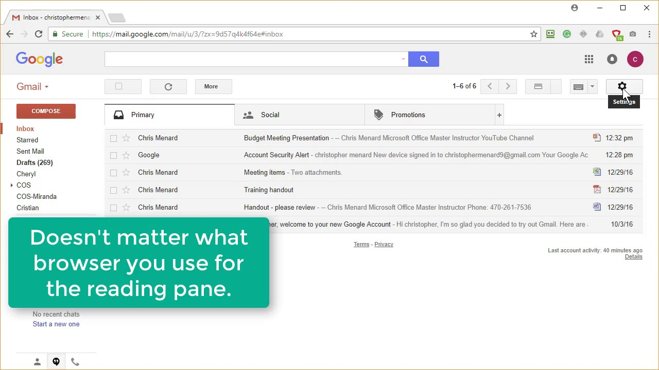 Gmail - Attachment icon and reading pane by Chris Menard