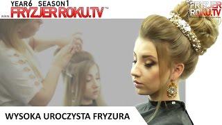 Wysoka uroczysta fryzura. FryzjerRoku.tv