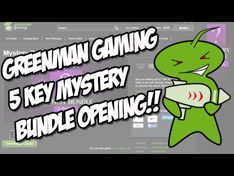 GreenMan Gaming 5 Steam Key Mystery Bundle Opening!!