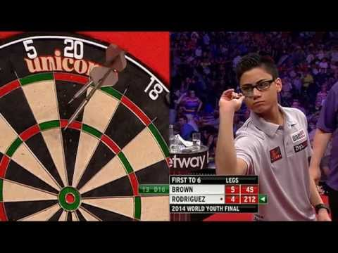 PDC Unicorn World Youth Championship 2014 Final Keegan Brown v Rowby-John Rodriguez