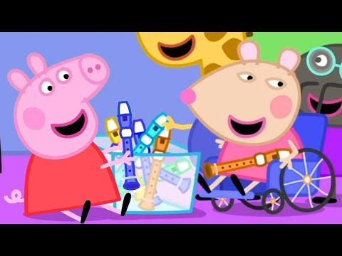 Peppa Pig English Episodes | Music Class with Mandy Mouse, Peppa Pig's New Friend! | Peppa Pig