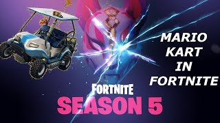 Fortnite battle royale ‎season 5 battle pass! drivig around in fortnite!
