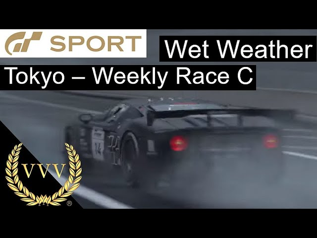 GT Sport - Wet Weather, Weekly Race C at Tokyo
