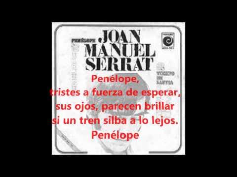 PENÉLOPE Joan Manuel Serrat Letra y música LYRICS