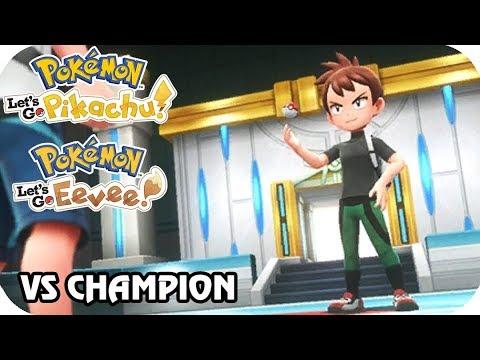 9f460d61e16 Pokémon Let s Go Pikachu   Eevee   Vs. Champion Rival (1080p60 ...
