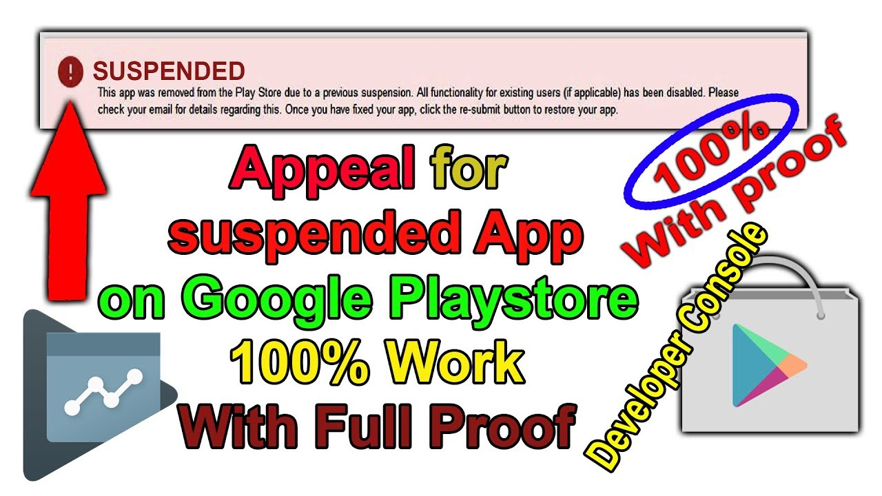 Appeal To Get Back Suspended Android App | My App Suspended On Google Play  Store