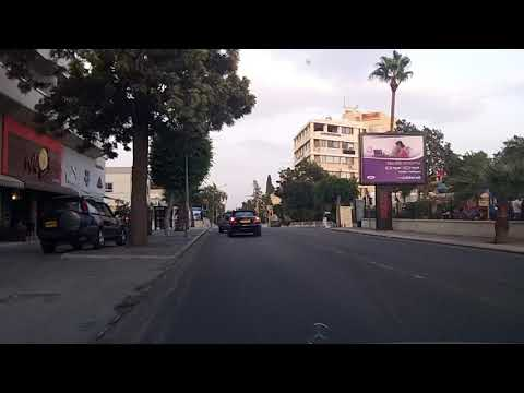 Driving through Larnaca, Cyprus (Oct 18, 2014)