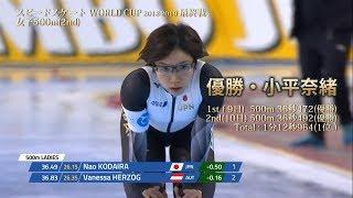 小平奈緒 2018-2019 ワールドカップ 第6戦(最終戦) 500m(2ndレグ) 1stレグに続いて完全優勝! 小平奈緒 検索動画 1