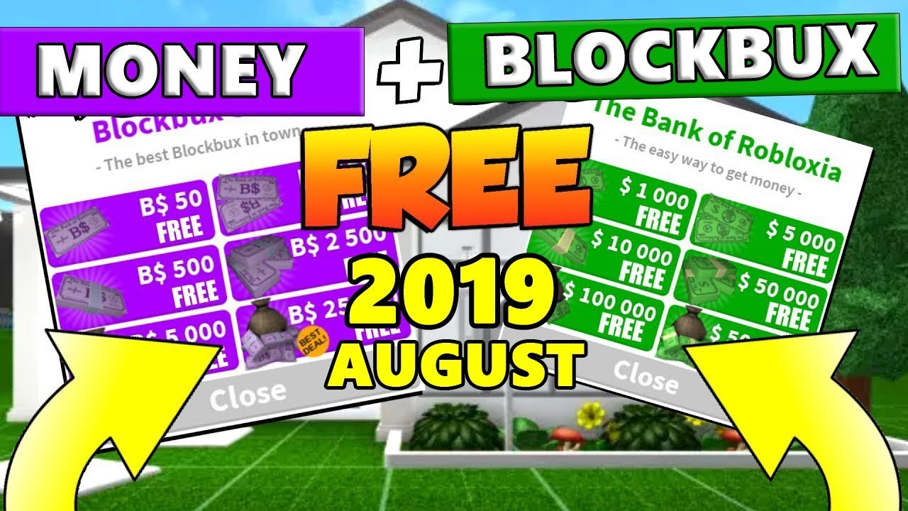 How To Get Free Money Blockbux In Bloxburg 2019 August Youtube