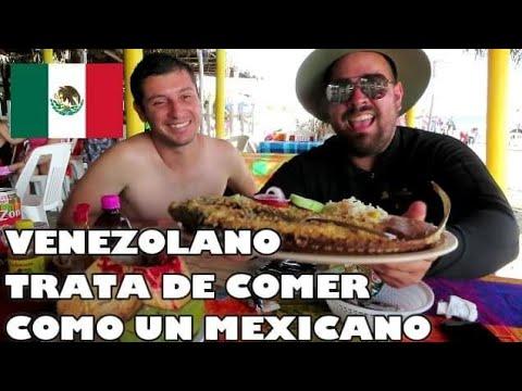 HASTA ESTO COMEN LOS MEXICANOS EN LA PLAYA - VENEZOLANO SIN PALABRAS