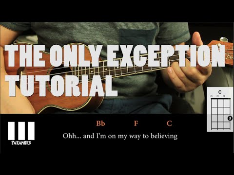 Paramore The Only Exception Ukulele Tutorial Fcil Youtube
