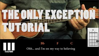Paramore - The Only Exception UKULELE Tutorial ( Fácil )