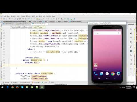 ViewHolder Pattern with Restful Web Services in Android