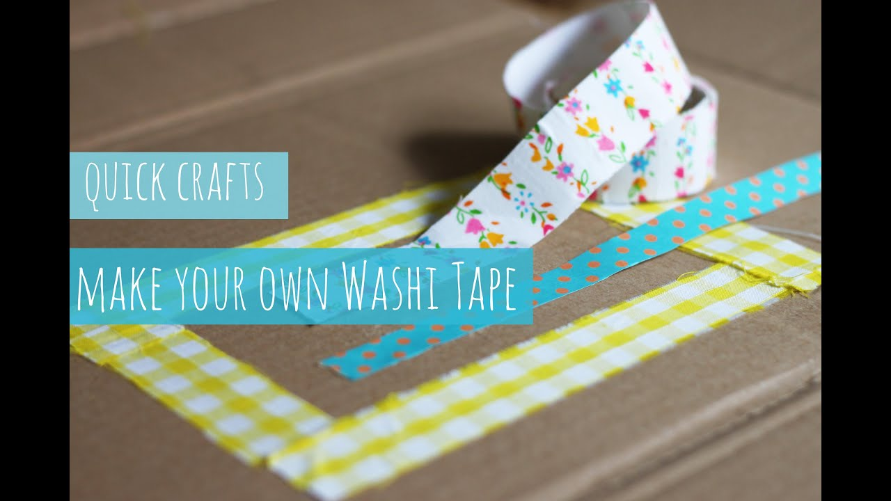 Make Your Own Washi Tape Youtube
