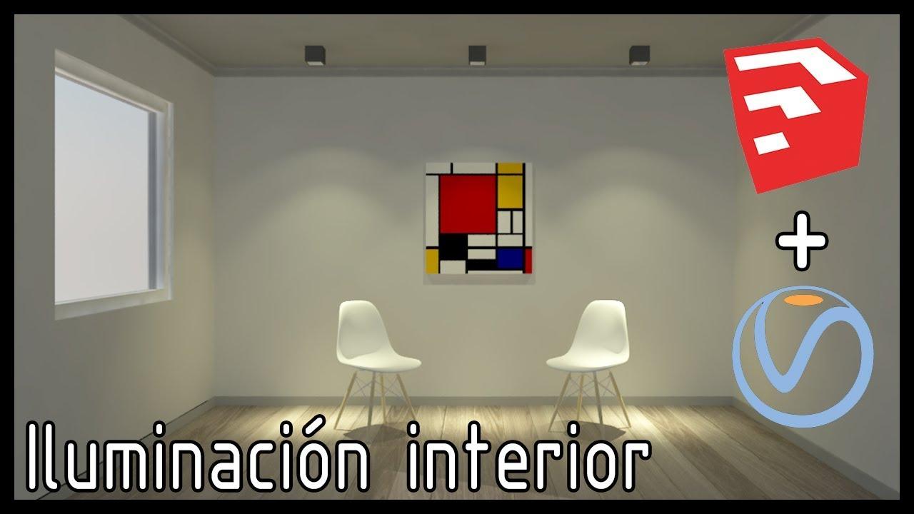 TUTORIAL Iluminacin interior Sketchup  Vray Muy Simple IES Lights  YouTube