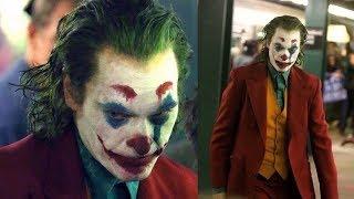 Joker 2019 - Set Footage - Joaquin Phoenix In Full Joker Costume