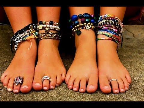 Чудесные браслеты на ногу, и ваша ножка будет выглядеть более изящной