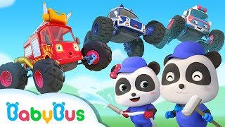 Monster Cars Got Injured | Little Panda Car Mechanic | Super Rescue Team | BabyBus Songs & Cartoon