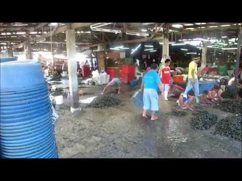 Seafood and fish at the Paranaque (Manila) fish market. Fresh, cheap and delicious.