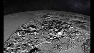 animated flyover of pluto s icy mountain and plains