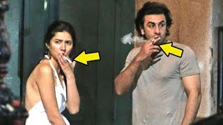 Ranbir Kapoor CAUGHT Smoking With Girlfriend Pakistani Actress Mahira Khan In New York