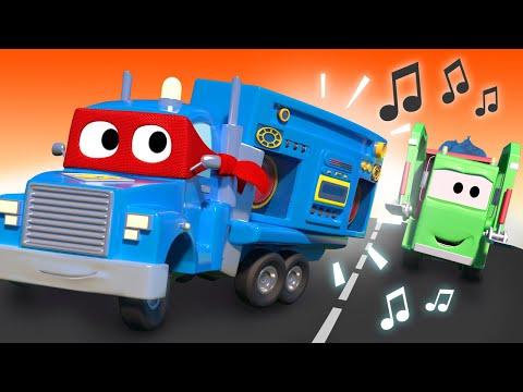 The Siren Truck -  Carl The Super Truck - Car City ! Cars And Trucks Cartoon For Kids