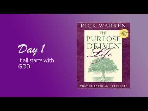 Purpose Driven Life Day 1