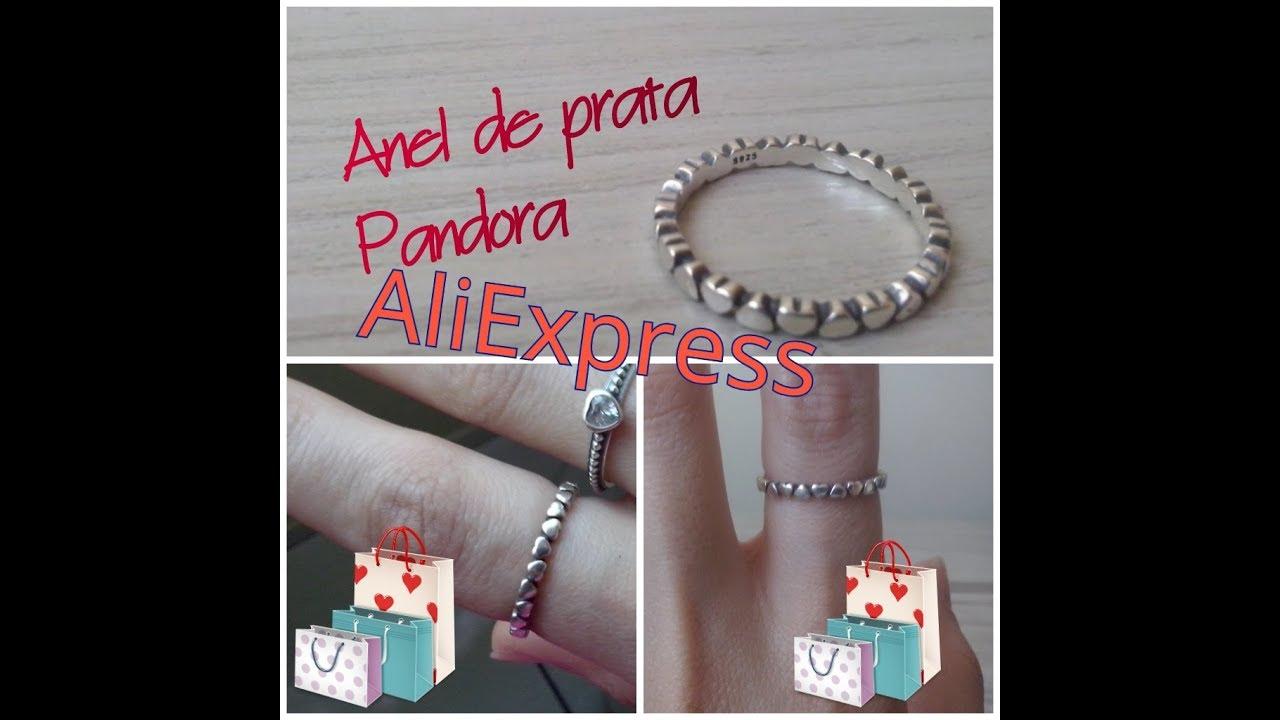 Unboxing-Anel pandora Aliexpress