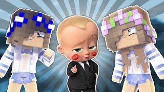 BABY SCHOOLGIRLS WORKING FOR BOSS BABY! Minecraft w/LittleKellyandCarly (Custom Roleplay)