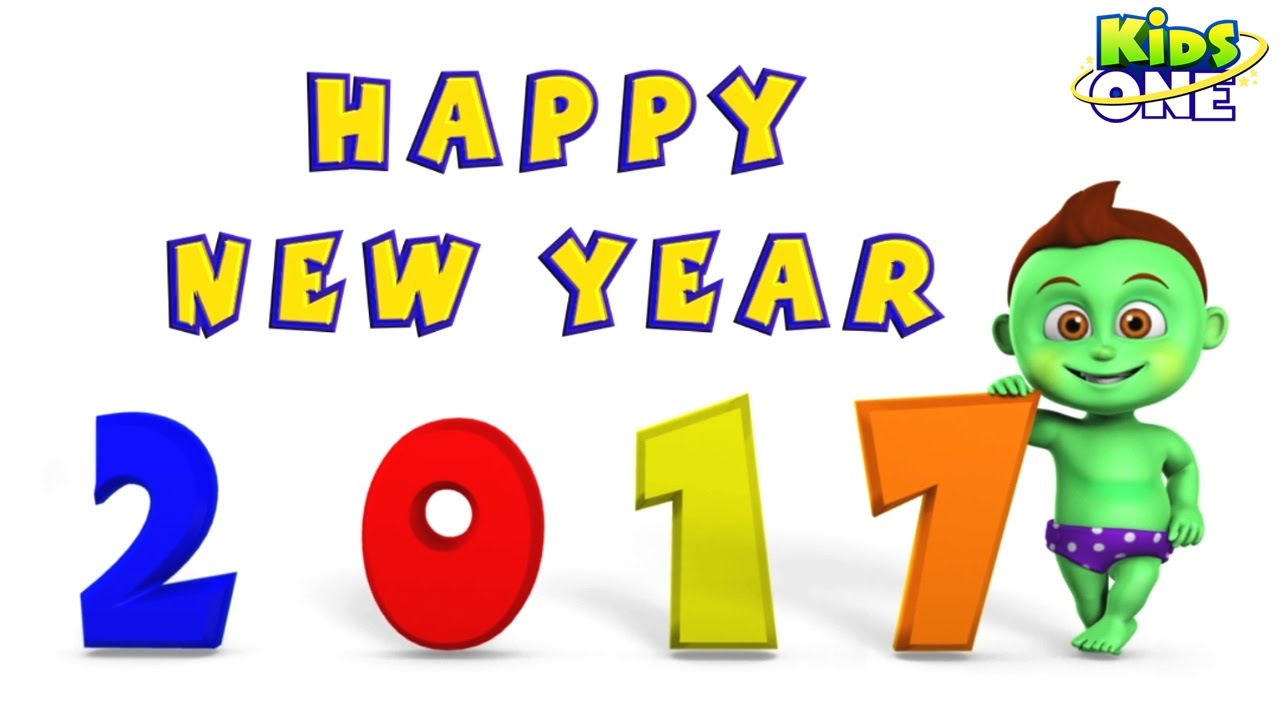 happy new year 2017 funny cute best animated greetings kidsone