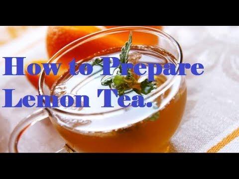 Lemon Tea Recipe - How to make Lemon Tea - Nimbu Chai Recipe.How to Prepare Lemon Tea