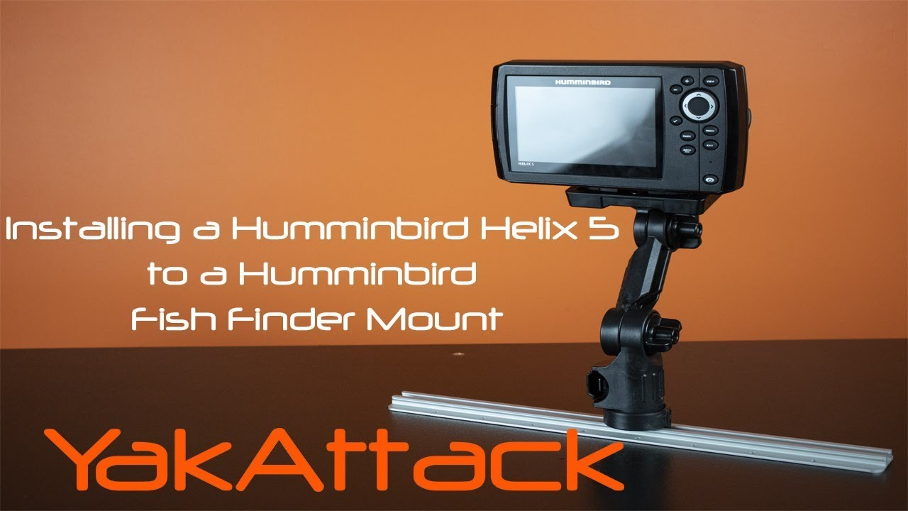 Installing a Humminbird Helix 5 to a Humminbird Fish Finder Mount