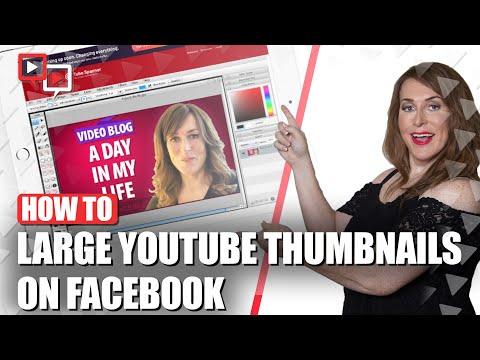 Large YouTube Thumbnail On Facebook