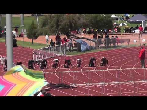 110 Meter Hurdle finals - Arizona State High School Track Meet