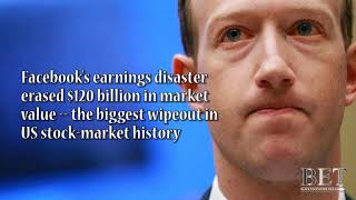Facebook's earnings disaster erased $120 billion in value - Biggest wipeout in stock-market history