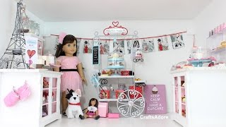 American Girl Doll House Room Tour - Grace's Little Bakery Set Up ~hd~